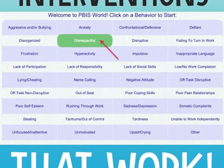 Classroom Behavior Interventions that Work