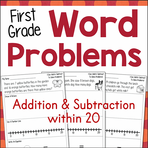 First Grade Word Problems Addition and Subtraction
