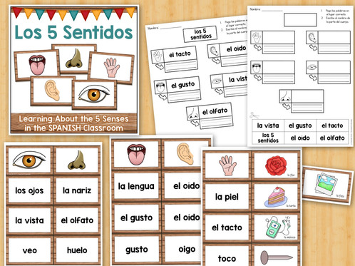 Los 5 Sentidos The Five Senses Activities For The Spanish Classroom