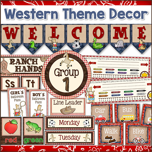 Western Cowboy Theme Classroom Decor