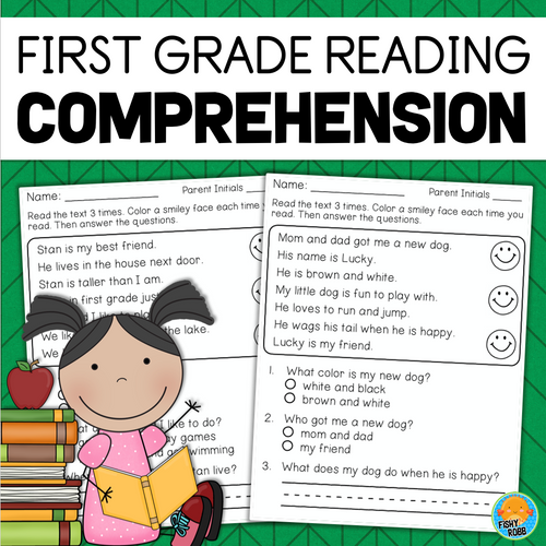 First Grade Reading Comprehension Passages And Questions Fishyrobb