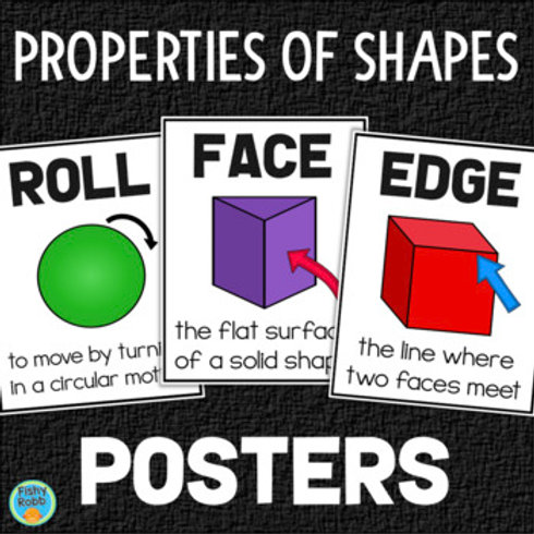 Properties of Solid Shapes Posters