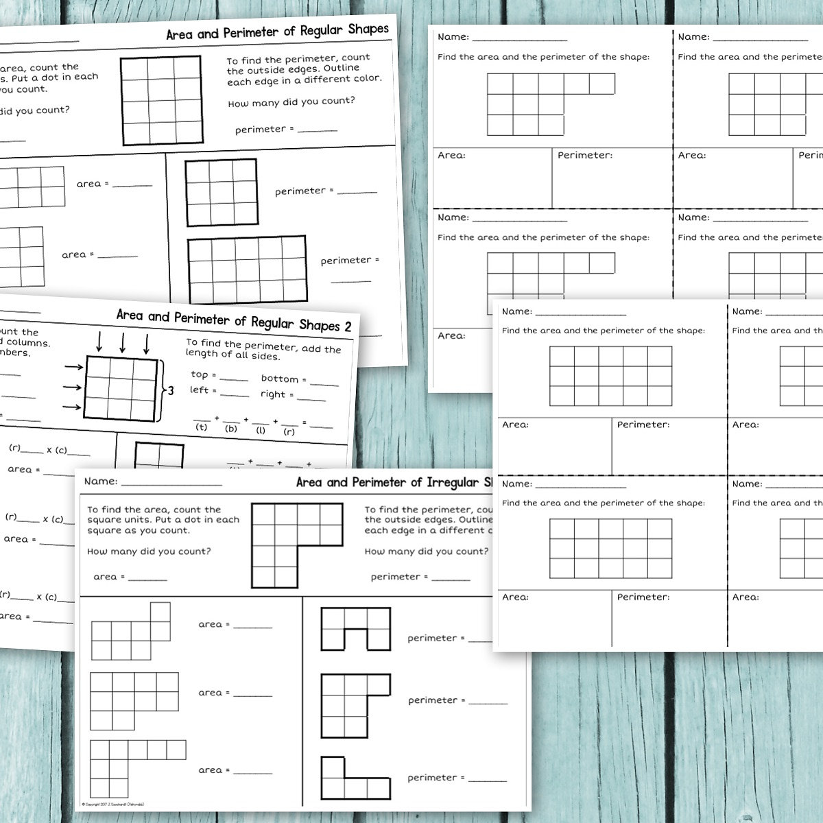 Fishyrobb Teaching Ideas and Resources – Area and Perimeter of Irregular Shapes Worksheets