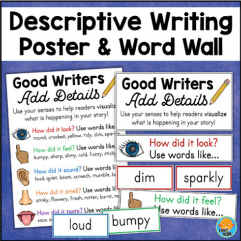 Adding Details Using Descriptive Words | Writing Posters and Word Wall