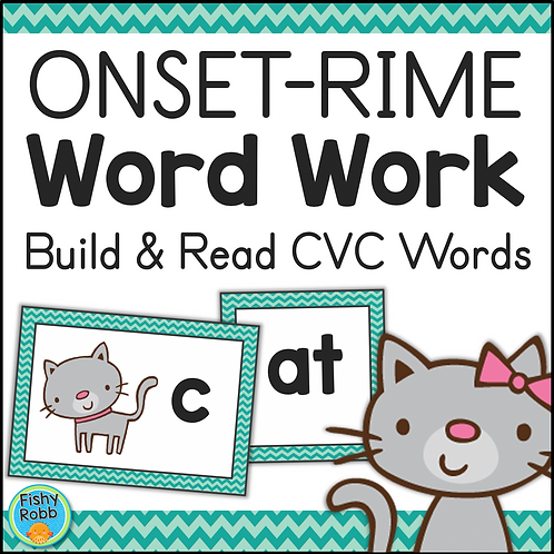 CVC Words: Onset-Rime Word Work Activities