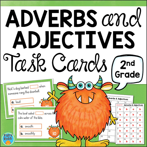 Adjectives and Adverbs Task Cards Grade 2