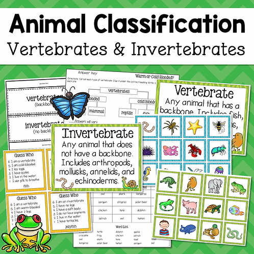 Animal Classification: Vertebrates and Invertebrates