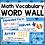 Thumbnail: Math Word Wall GRADE 2 Math Vocabulary Cards