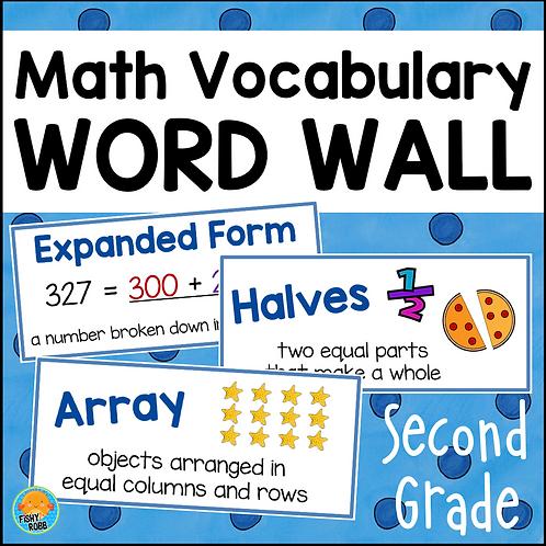Math Word Wall GRADE 2 Math Vocabulary Cards