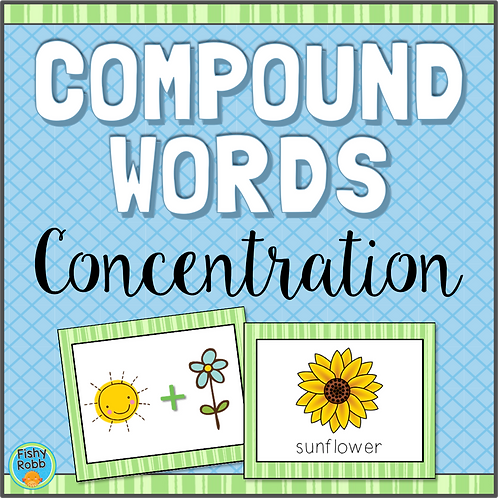 Compound Words Concentration Game