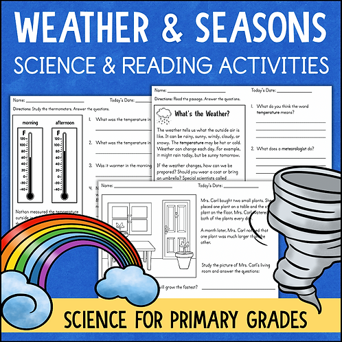 Weather and the SeasonsWorksheets and Activities
