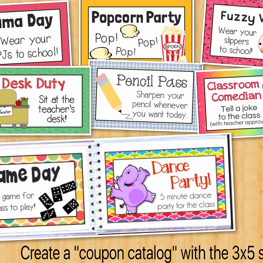 Fishyrobb | Teaching Ideas and Resources | Reward Coupons for ...
