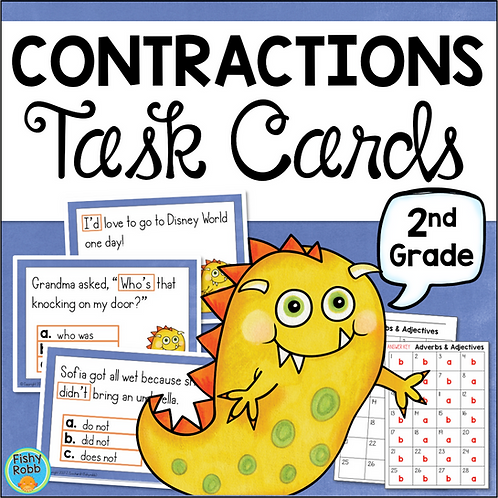 Contractions Task Cards Grade 2