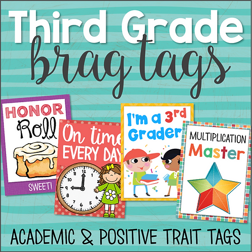Brag Tags for Third Grade