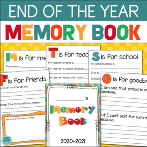 End of the Year Memory Book for Primary Grades