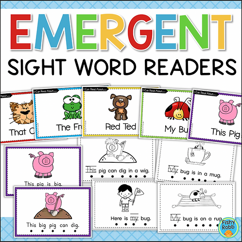 Emergent Readers - Decodable Sight Word Readers - Printable Books