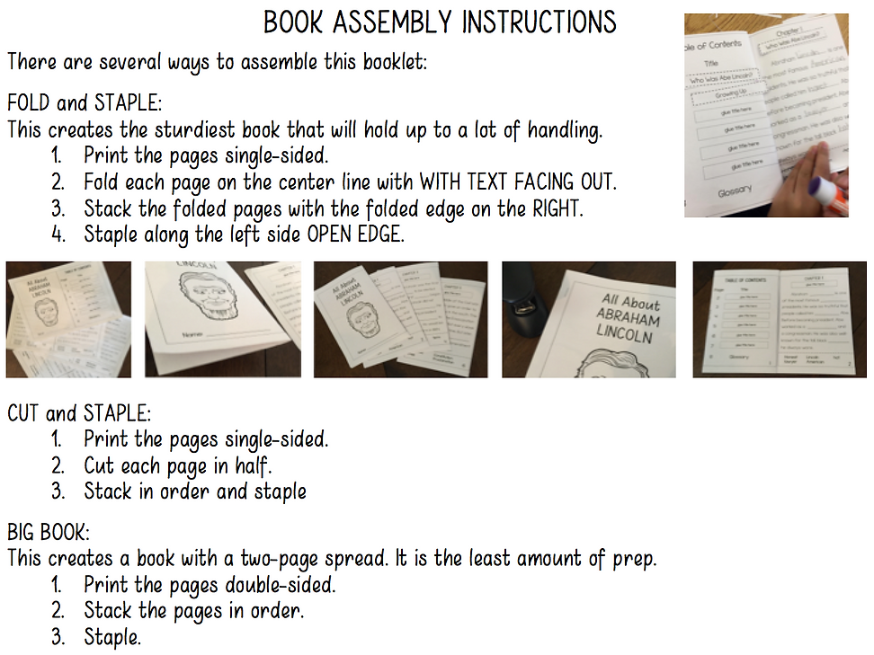 interactive reading book assembly instructions