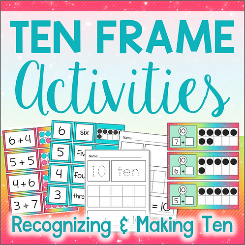 Tens Frame Activities for Math Centers