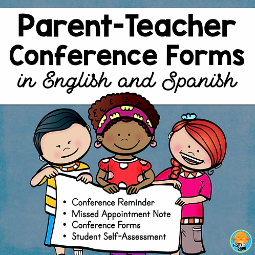 Editable Conference Forms, Notes, Reminders In English and Spanish