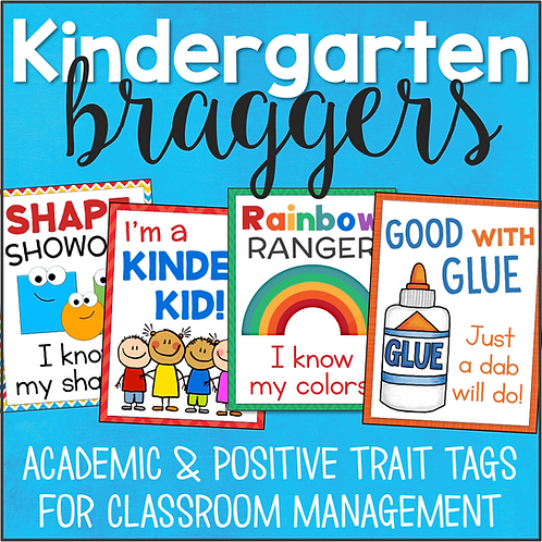 Kindergarten Brag Tags Rewards & Incentives