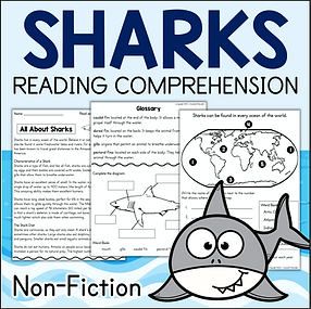 SHARKS Non-Fiction Text Reading Comprehension Questions & Activities