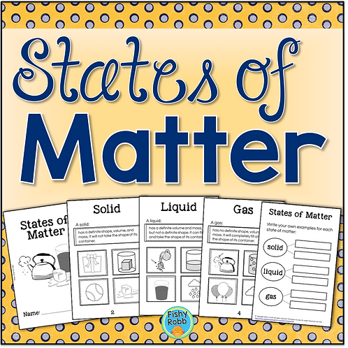 States of Matter Activity - Interactive Book