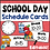 Thumbnail: Daily Schedule Cards with Editable Times