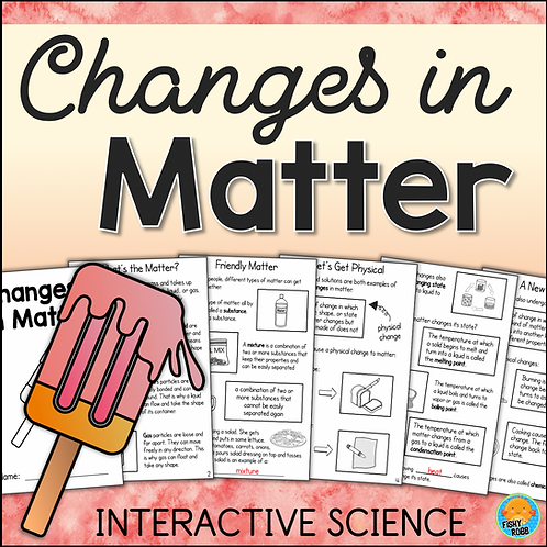 Changes in Matter Interactive Science Activity Book