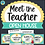 Thumbnail: Meet The Teacher Night Open House Stations Forms Signs Activities