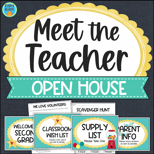 Meet The Teacher Night Open House Stations Forms Signs Activities