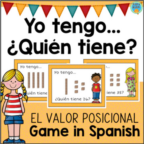 Yo tengo ¿Quién tiene? El valor posicional - Place Value Game in Spanish