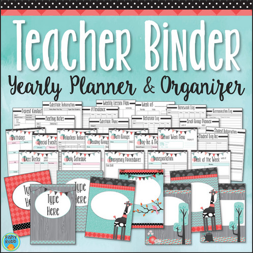 teacher binder yearly planner organizer