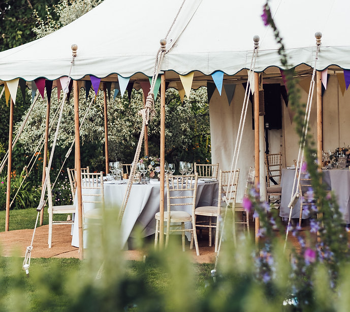 wedding marquee in private home in Surrey