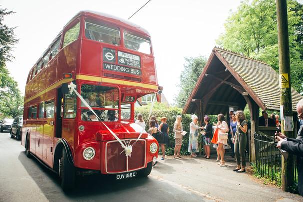 Traditional Double Decker Bus Wedding
