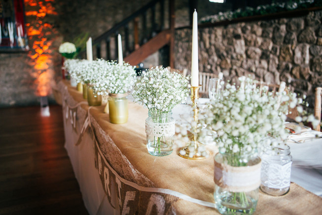 Vintage Wedding Top Table
