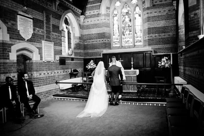 Church wedding Sway Hampshire