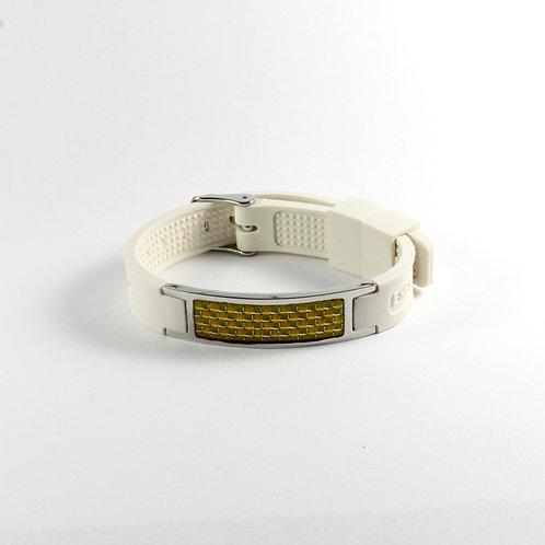 White - Gold Carbon Fiber