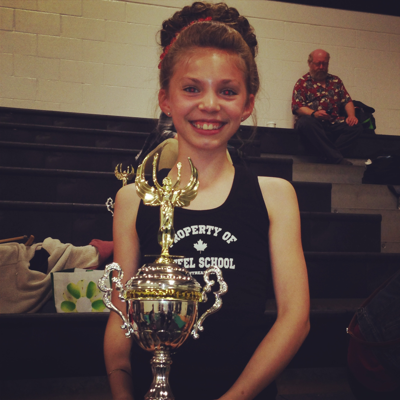 Kezia won 1st!