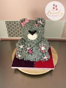 Gâteau 3D nounours - peluche