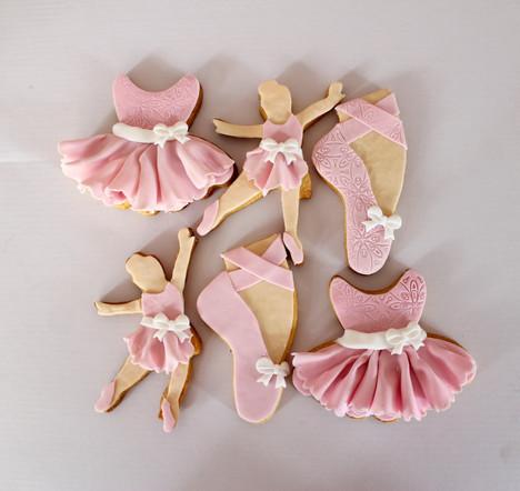 Biscuits décorés thème danse classique