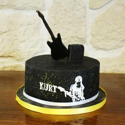 Gâteau thème Nirvana & Kurt Cobain