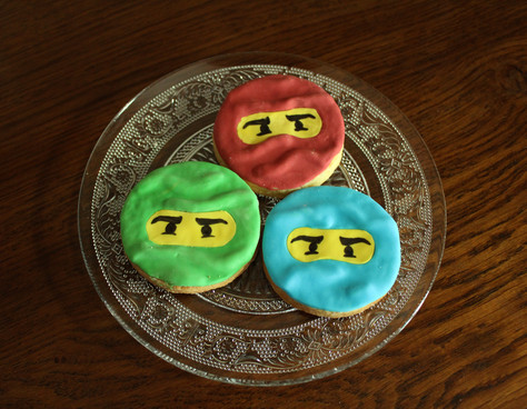 Biscuits décorés thème NinjaGo