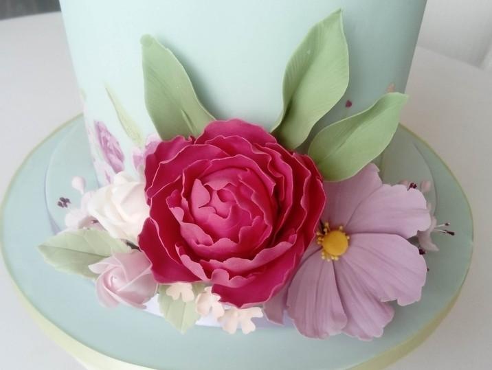 Wedding cake bohème romantique