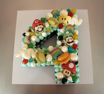 Number cake Thème Mario