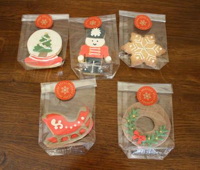 Biscuits décorés pour noël d'entreprise