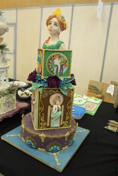 Gâteau pâte à sucre thème art nouveau concours