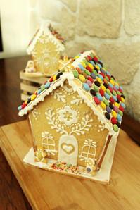 Maisons de Noël en biscuit style pain d'épices