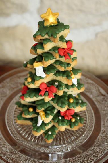 Sapin de Noël en biscuit