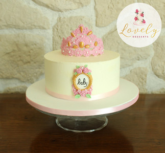 Baby Shower cake princesse