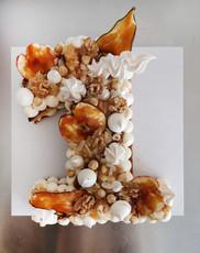 Number cake poire caramel noix